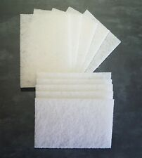 WHITE Non abrasive non woven pads ideal for wood finishing Odies Oil 152x229 x10