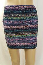 Hot Kiss Women's Junior's Skirt Stretch Blue Mint Size Large X Large Mini