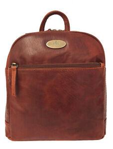40% Off Women's Rowallan Cognac Leather Backpack