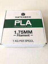 Hatchbox PLA 1.75 mm 3D Printer Filament In True Black, 1kg Spool Sealed NIB