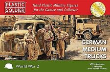Plastic Soldier 1/72 German Medium Trucks # WW2V20020