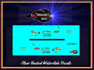 "1//64 /'67 Camaro  /""White Racing Stripes/"" Decal SCR-0502"