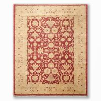 """8'2"""" x 10'2"""" Hand Knotted 100% Wool Oriental Area Rug Traditional Rust"""
