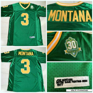 Retro Joe Montana Notre Dame Fighting Irish #3 Football Jersey Stitched