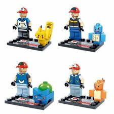 4 Sets Pokemon Pikachu Charizard Mini Figures Blocks Bricks Pocket Monster Toy