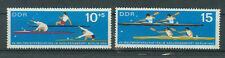 RDA timbres 1966 Canoë-Coupe du monde Mi-Nº 1202 et 1203 ungestempelt