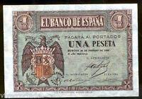 1 Peseta 28 febrero 1938  Burgos  @ Sin Circular @