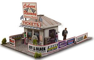 BK 4306 1:43 Scale Ticket and Gate Entrance Photo Real Scale Building Kit