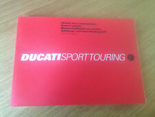 USED GENUINE DUCATI SPORT TOURING 4 OWNER'S MANUAL 91370461A