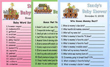 12 NOAH'S ARK BABY SHOWER FAVORS GAME CARDS