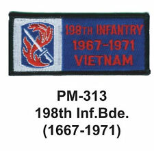 """3""""  198TH INF. BDE.(1667-1971) Embroidered Military Patch"""
