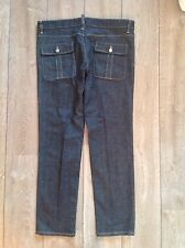 NEW AUTH DSQUARED FLAP POCKET JEANS RAW INDIGO DENIM 52