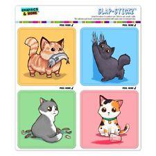 Kawaii Cute Cats Being Bad Craft Scrapbook Planner Calendar Sticker Set