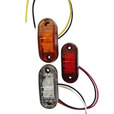 2X LED Side Marker Indicator Light Clearance Lamp For Truck Car Boat Bus New!