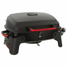 portable grill Tabletop Patio Bbq Tailgate Camping Propane Gas Grill,Red+Black