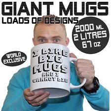 Giant 2 Litre Funny Mugs  Large Selection 2000ml Mug Perfect xmas Christmas Gift