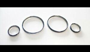 For BMW E39 M M5 5 Series E38 E53 X5 Chrome Speedometer Gauge Dial Rings Bezel