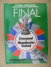1977 FA Cup FINAL PROGRAMME- LIVERPOOL v MANCHESTER UNITED (Org, VG)