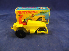 Matchbox Superfast No.21b Rod Roller in Yellow Black Wheels green Base