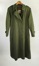 London Towne London Fog Double Breasted Trench Coat Green Women's Sz 14