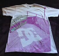 DC Shoes Size Small White Short Sleeve Booombox Urban Skateboarding Tshirt Used