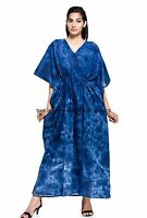 NEW Cotton Tie Dye Shibori Indian Kaftan Long Dress Festival Beach Resort Wear