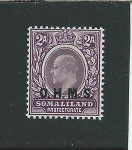 SOMALILAND OFFICIAL 1904-05 2a DULL & BRIGHT PURPLE LMM SG O12 CAT £300