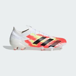 Adidas Predator Mutator 20.1 Low FG Soccer Cleat White/Pop EG1602 US Size 12