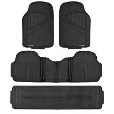 Black Rubber Floor Mats Car for SUV Heavy Duty All Season Liner BPA FREE⭐⭐⭐⭐⭐