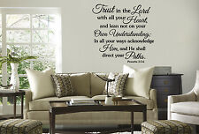 vinyl wall lettering TRUST IN THE LORD proverbs 3:5-6 quote art/decor/sticker