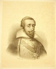 LITHOGRAPHY portrait the Prince Henri The 1st Bourbon-Condé 1826 artist to ident
