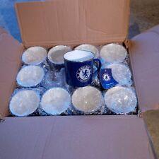 12 x Chelsea Enamel Tin Mugs + Official Merch + Football Wholesale/Job Lot/Bulk