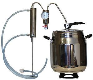 Destille Destillieranlage Schnellkochtopf 17 Liter  Kühler Thermometer