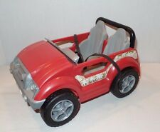 2004 Mattel Barbie Cali Girl Jeep Red 4x4 dune buggy sun beach 2 seat car G8673