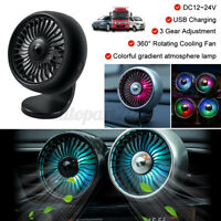 Mini Electric USB Cooling Fan Air Vent Dash Bracket Clip for Car Truck  @ L
