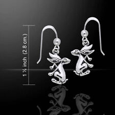 Bunny Rabbit .925 Sterling Silver Earrings by Peter Stone