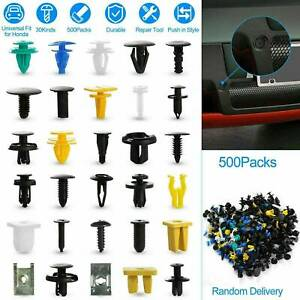 500X Plastic Car Body Push Pin Rivet Fasteners Trim Moulding Clip Screw Driver~