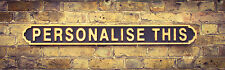 Vintage Wood street road sign, BESPOKE SIGN, Solid wood, WAX FINISH