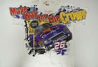 Jamie McMurray #26 Crown Royal All Over Total Print T-shirt! Size Adult L or XL