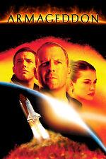"Armageddon (1998) Movie Silk Fabric Poster Sci-Fi 11""x17"" Bruce Willis"