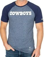 New Nike Dallas Cowboys NFL Football Marbled Raglan t-shirt men's Medium blue