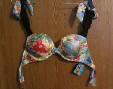 NWT Victoria's Secret Very Sexy Miraculous Floral Bikini Swimsuit Top sz 34B