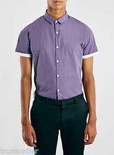 TOPMAN Purple Marl Short Sleeve Smart Shirt UK S Was £20 Brand New Sale