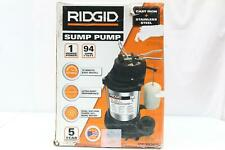 Ridgid (1000Rsds) 1 Hp Stainless Steel & Cast iron Sump / Effluent Pump New