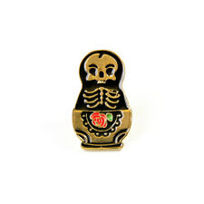 Cute Alloy Hard Enamel Punk Skull Brooch Badge T-shirt Collar Pins Jewelry 1Pc