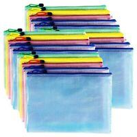 20 Stück Reiß verschluss taschen, PVC Dokumenten tasche Reiß verschlussordn C9A3