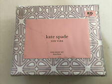 Kate Spade Breeze Blocks King Duvet Set With 2 King Shams in Lavender