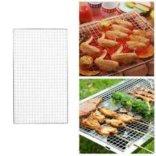Stainless Steel BBQ Grill Grate Grid Wire Mesh Rack Net Replacement Cooking N7F1