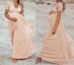 Umstandsmode Umstandskleid Kleid Schwangerschaft festlich Hochzeit apricot NEU