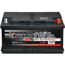 Autobatterie 12V 110Ah 850A BlackMax Starterbatterie statt 88Ah 90Ah 95Ah 100Ah